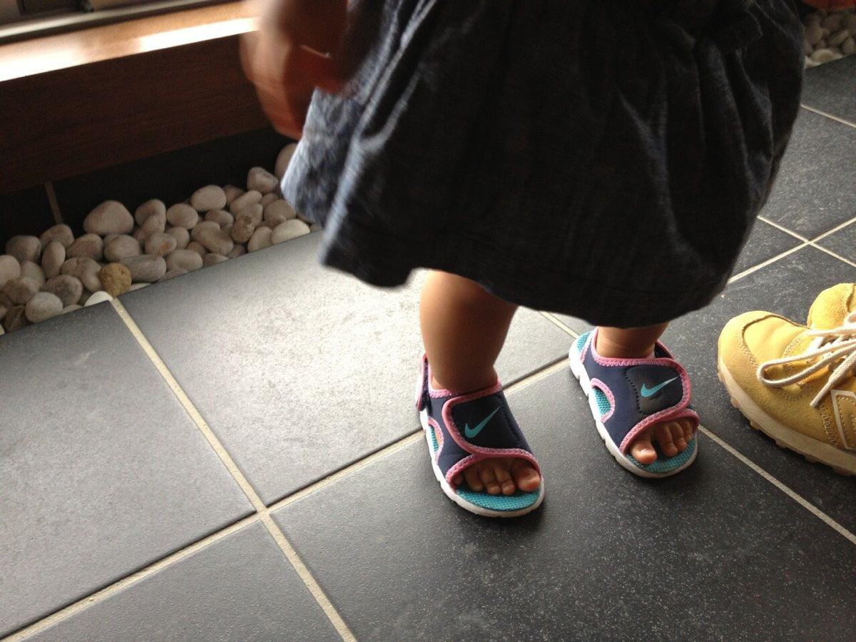 子供に履かさせやすいナイキのサンダル