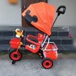 【おすすめ三輪車】とにかく押すのが楽!ミッキーマウスの三輪車