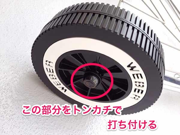 Weberのタイヤ部分