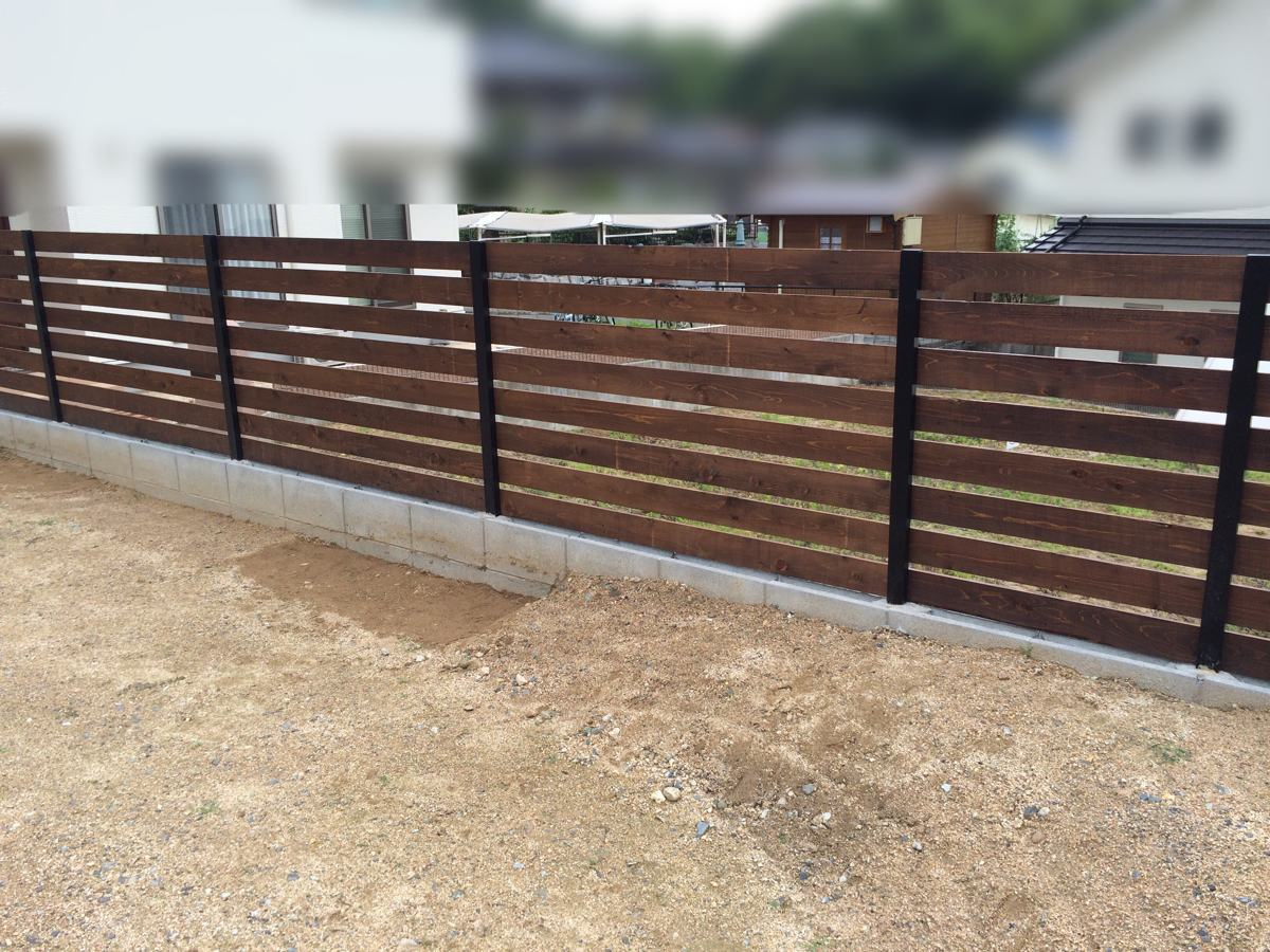 【DIY】ど素人でもできた自作目隠しウッドフェンス(柵)の作り方の紹介
