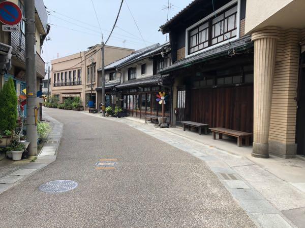 岡山県西大寺のカフェ茶蔵のある五福通りの様子