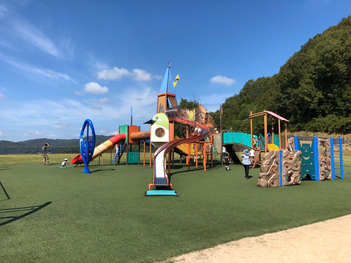 【岡山子供の遊び場】矢掛町総合運動公園の遊具