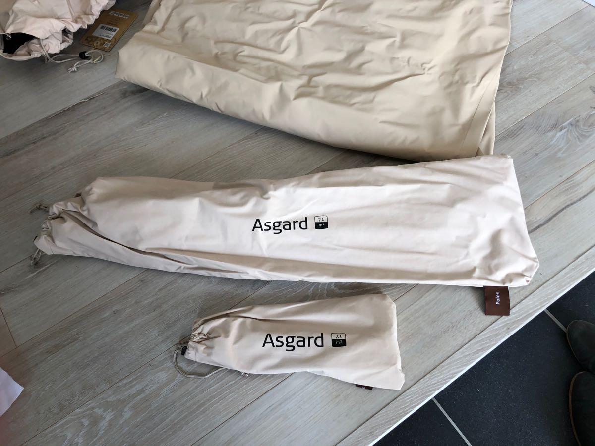 自宅の庭でおうちキャンプやってみた。ノルディスク「Asgard 7.1 Basic Cotton Tent」